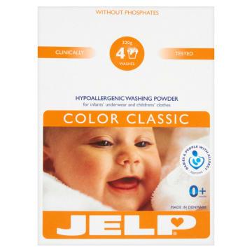 Proszek do prania tkanin, bielizny i pieluszek – Jelp specjalnie dla wrażliwej skóry.