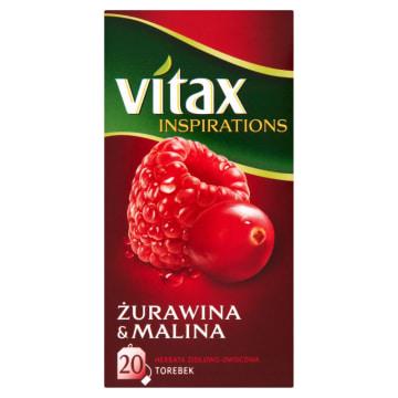 Inspirations Herbata żurawina-malina Vitax 20 torebek
