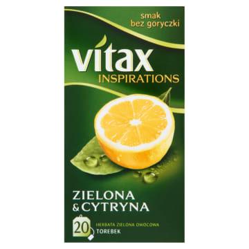 Vitax - Herbata zielona z cytryną 20 torebek to delikatny smak, który pozwoli się zrelaksować.