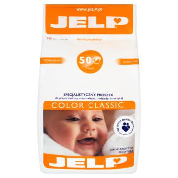 Proszek do prania - Jelp Color Classic. Przeznaczony do rzeczy niemowląt.