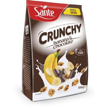 Musli bananowe z czekoladą 350g - Sante Crunchy
