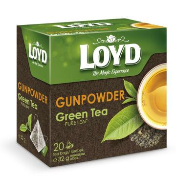 LOYD TEA Herbata zielona liściasta GUNPOWDER (20 torebek) 32g
