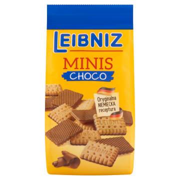 Kruche Herbatniki Leibniz Minis Choco Bahlsen to chrupiące ciasteczka oblane mleczną czekoladą.