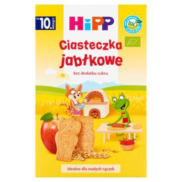 Ciasteczka jabłkowe Bio - Hipp. Ciasteczka wytwarzane z ekologicznych zbóż.