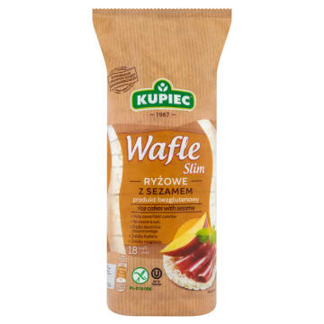 KUPIEC - wafle ryżowe. Zdrowa i lekkostrawna przekąska