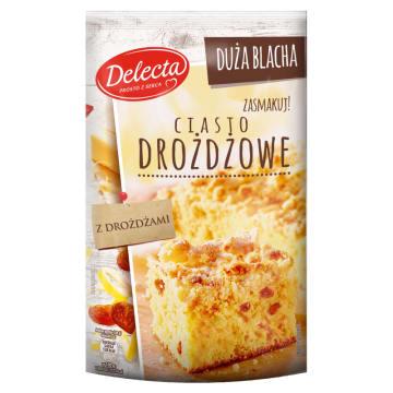 Delecta Duża Blacha – Ciasto drożdżowe 600 g. Ciasto drożdżowe do domowego przygotowania.