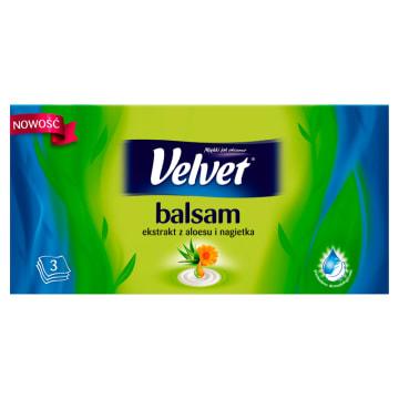 Chusteczki higieniczne – Velvet Balsam. Aksamitnie miękkie i delikatne chusteczki Velvet z balsamem.