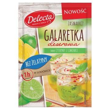 DELECTA Galaretka cytrynowo limonkowa bez żelatyny 61g