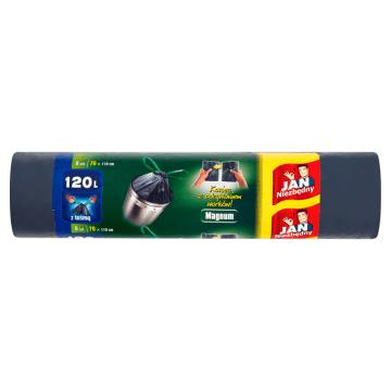 JAN NIEZBĘDNY Magnum Worki na śmieci z taśmą 120l 8szt. 1szt