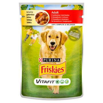 FRISKIES Vitafit Adult Karma dla psów z wołowiną i marchewką w galaretce 100g
