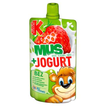KUBUŚ Mus + Jogurt banan truskawka jabłko 80g