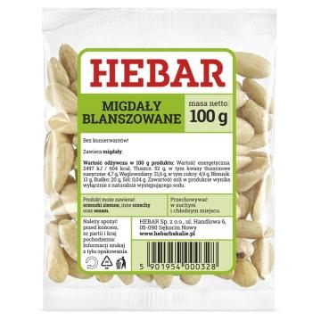 HEBAR Migdały obrane 100g