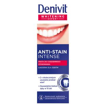 DENIVIT Anti-Stain Intense Pasta do zębów wybielająca  do codziennego stosowania 50ml