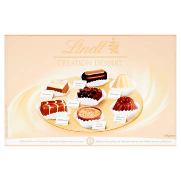 LINDT Praliny szwajcarskie Creation Dessert - bombonierka 170g