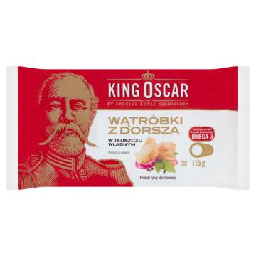 KING OSCAR Wątróbki z dorsza w tłuszczu własnym 115g