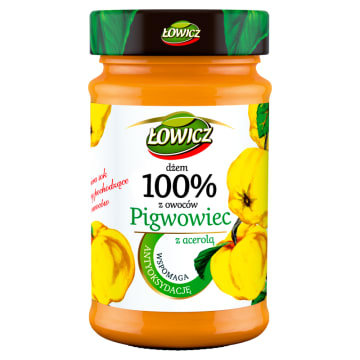 ŁOWICZ 100% z owoców Dżem z pigwowca z acerolą 235g