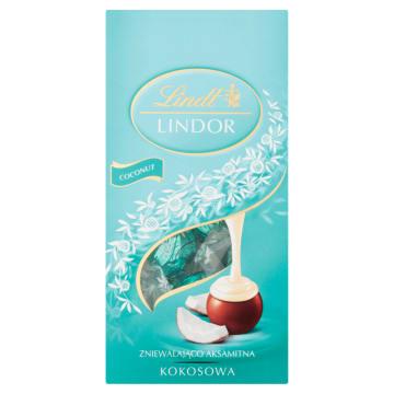 LINDT Lindor Praliny z czekolady mlecznej z nadzieniem kokosowym 100g