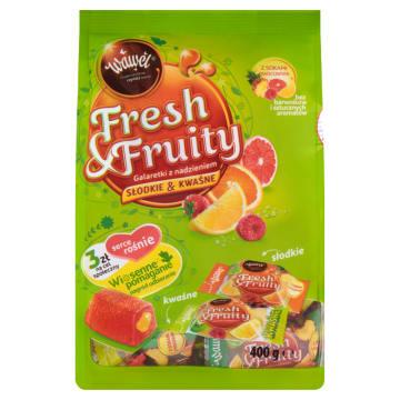 WAWEL Fresh&Fruity Galaretki z nadzieniem słodkie & kwaśne 400g