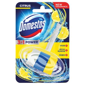 Domestos - Kostka toaletowa w koszyczku 3in1 Citrus. Skutecznie dezynfekuje powierzchnie,