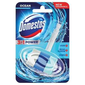 Domestos - 3in1 Kostka toaletowa Atlantic w koszyczku. Czystość i świeżość w każdej toalecie.