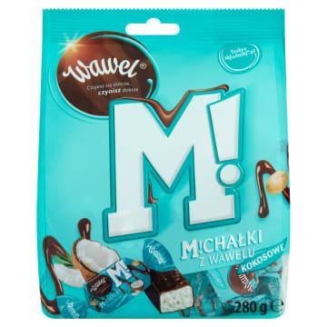 Cukierki w czekoladzie Michałki – Wawel to tradycyjne, lubiane cukierki w kokosowej wersji.