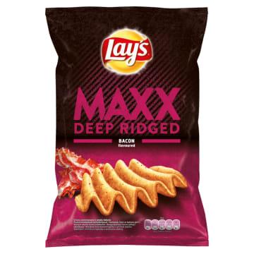 LAYS Maxx Mocno Pogięte Chipsy ziemniaczane Chrupiący Bekon 140g