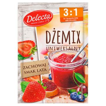 Delecta - Dżemix uniwersalny 3:1. Idealna konsystencja i niezmieniony smak przetworów.