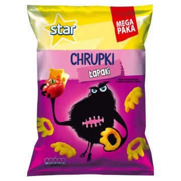 STAR Chrupki kukurydziane o smaku pomidora z serem Łapaki 125g