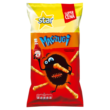 STAR Chrupki kukurydziane o smaku ketchupu Maczugi 80g