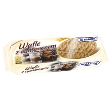 AS-BABUNI Wafle o smaku cynamonowym 100g