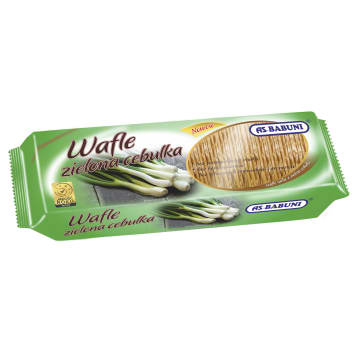AS-BABUNI Wafle o smaku zielonej cebulki 100g