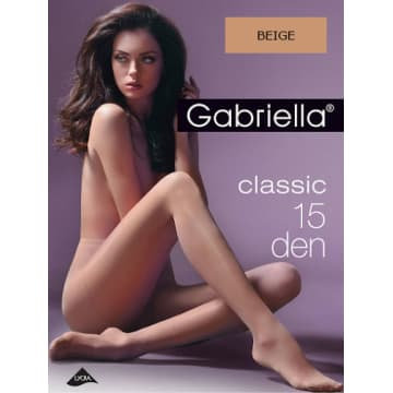 GABRIELLA Rajstopy Classic 15 Den, rozmiar 5, kolor Beige 1szt