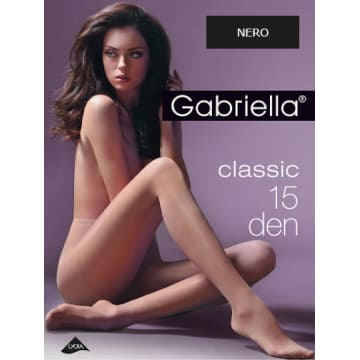GABRIELLA Rajstopy Classic 15 Den, rozmiar 3, kolor Nero 1szt