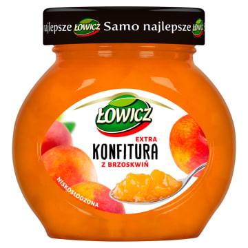 Łowicz - Konfitura extra z brzoskwiń niskosłodzona. Aromatyczna konfitura z najlepszych składników.