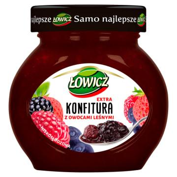 Łowicz- Konfitura z owoców leśnych 240 g to w pełni naturalny produkt.