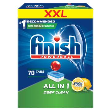 FINISH All in 1 Tabletki do zmywarki - Powerball Lemon 70 szt. 1.267kg