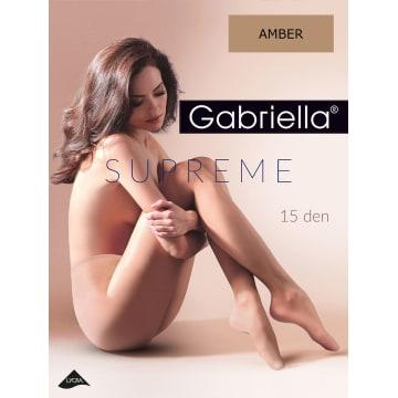 GABRIELLA Rajstopy Supreme 15 Den, rozmiar 4, kolor Amber 1szt