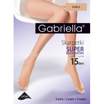 GABRIELLA Skarpetki 15 Den, kolor Sable (2 pary) 1szt