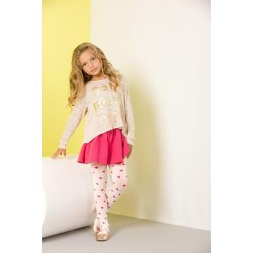 GABRIELLA Rajstopy dziecięce Zuza 40 Den, rozmiar 1, kolor Bianco-Rosa 1szt