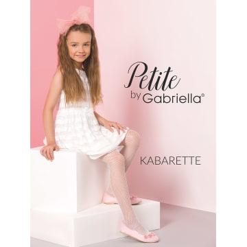 GABRIELLA Rajstopy kabaretki dziecięce, rozmiar 3, kolor Bianco 1szt