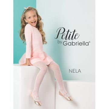GABRIELLA Rajstopy dziecięce Nela, rozmiar 2, kolor Bianco 1szt