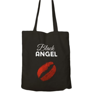 BLACK ANGEL Torba na zakupy black 1szt