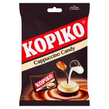 Cukierki o smaku cappuccino - Kopiko. Pochodzą z połączenia kawy i mleka.