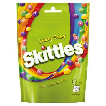 Lekko kwaśne draże owocowe - Skittles Crazy Sours. Cukierki z kilkudziesięcioletnią tradycją.