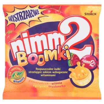 Rozpuszczalne kulki strzelające sokiem - NIMM2 Boomki. Cukierki z dodatkiem witamin.