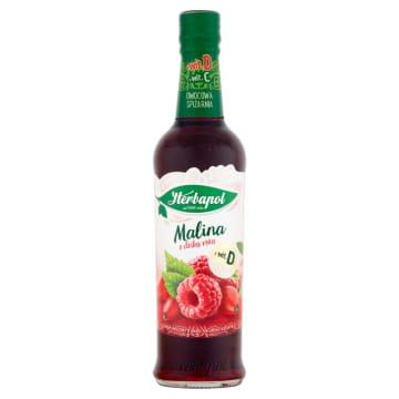 Herbapol - Syrop malinowy z dziką różą. Najwyższa jakość owoców zawiera mnóstwo witaminy C.