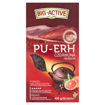 Czerwona herbata – Big Active Pu-Erh to wyjątkowa herbata o smaku grapefruitowym.