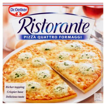 Pizza mrożona – Dr. Oetker Ristorante. Złożony z czterech serów przysmak o włoskim smaku.