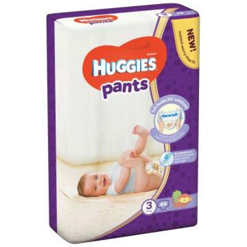 HUGGIES pants Pieluchomajtki Rozmiar 3 (6-11kg) 44 szt. 1szt