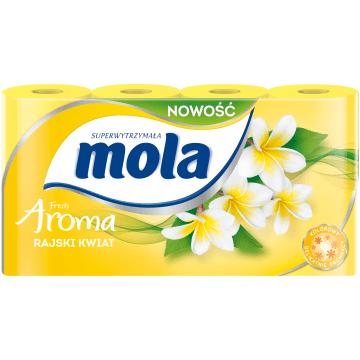 Papier toaletowy Żółty, 8 szt - Mola Fresh. Wydajny i delikatny dla skóry.